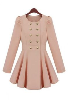 Puff skirt style double-breasted jacket coat - soooo cute!