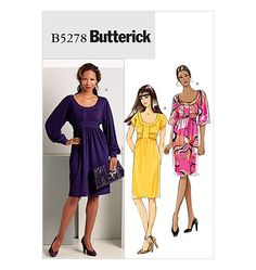 Butterick Dress Pattern B5278  Misses' Dress by ThePatternSource, $8.00