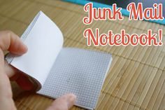 DIY: How to make a Junk Mail Notebook Tutorial Using Security Envelopes. Fun Crafts, Paper Crafts, Summer Crafts, Paper Art, Craft Projects For Kids, School Projects, Craft Ideas, Diy Projects, Security Envelopes