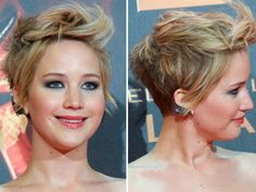 Jennifer Lawrence's Messy Pixie Cut At 'Catching Fire' Madrid Premiere