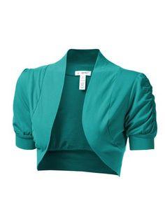 5c1c959060b Women s Cinched Short Sleeve Bolero Open Cardigan