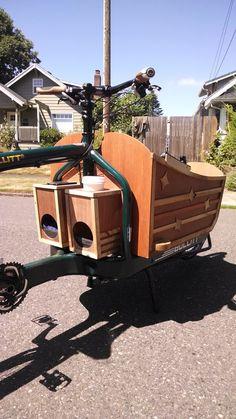 Bullitt- cargo bike custom sled box.