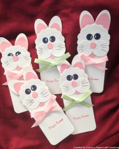 Easter Cards created using Two Tags Die and Punches