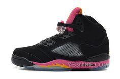 0e5c896fbd2f Nike Air Jordan AJ5 Retro Jordan 5 Basketball Shoes Womens Shoes Black Pink  Florida Nike Air