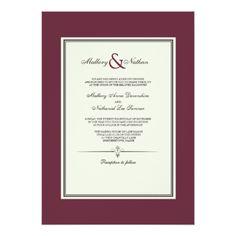 Burgundy Wedding Card