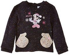 Disney-Minnie-Mouse-NH0064-Sweat-shirt-Bebe-fille-Bleu-Marine-Noir-Dar