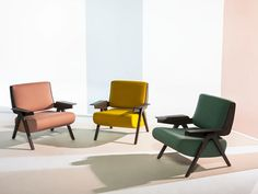 Fabric armchair with armrests LINA by Tacchini