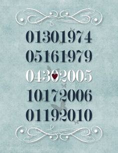 Lauras Crafty Life: Important Dates Sign