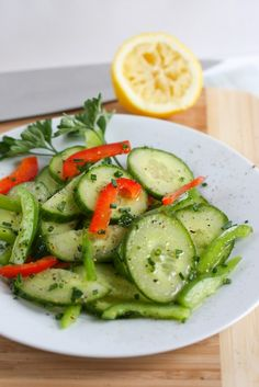 Cucumber Salad via @April