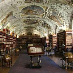 Strahov Monastery Library in Prague (Theological Hall)