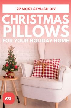 27 Most Stylish DIY Christmas Pillows For your Holiday Home Diy Christmas Decorations For Home, Christmas Projects, Christmas Ideas, Holiday Decor, Christmas Pillow, Christmas Home, Christmas Stuff, Christmas Gifts, Christmas Ornaments
