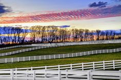 #sunset over the horse farm