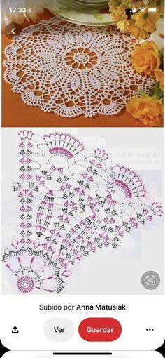 Free Crochet Doily Patterns, Tunisian Crochet Patterns, Crochet Doilies, Crochet Lace, Thread Crochet, Crochet Crafts, Yarn Crafts, Crochet Stitches, Knitting Yarn