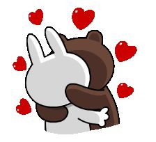 The perfect ConyAndBrown Hug Kiss Animated GIF for your conversation. Discover and Share the best GIFs on Tenor. Kiss Animated Gif, Hug Gif, Cartoon Stickers, Love Stickers, Bear Gif, Cony Brown, Line Love, Cute Couple Cartoon, Cute Love Gif