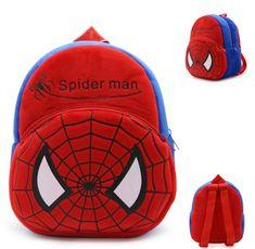 """$10.4 - Spider Man Red Plush Backpack Shoulder Bag Travel Bags 11"""" Kids Bag #ebay #Collectibles"""
