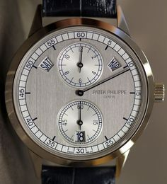 Patek Philippe 5235 Annual Calendar Regulator Watch. Clean, elegant, and completely out of my price range. $54,000.