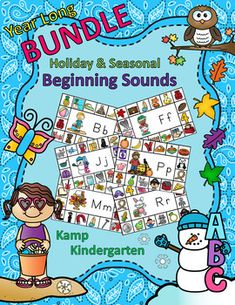 Literacy Activities Beginning Sounds Holiday and Seasonal Year Long BUNDLE Kindergarten Readiness, Kindergarten Lesson Plans, School Site, Beginning Sounds, Little Learners, Kindergarten Activities, Winter Theme, Literacy Centers, Learn To Read