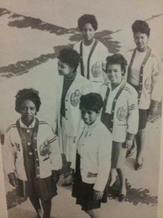 Chapter officers of Delta Eta Chapter of DST. Vintage Delta.
