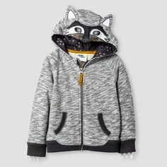 Toddler Boys' Big Bad Wolf Costume Hoodie - Gray Wolf - Genuine Kids™ from…