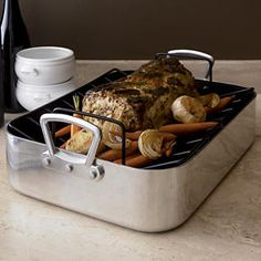 Large Nonstick Roaster in Top Cookware, Bakeware | Crate and Barrel