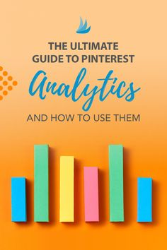 The Ultimate Guide to Pinterest Analytics and How to Use Them. Diving into Pinterest analytics might seem intimidating - but stick with us and we'llshow you how to improve and adjust your Pinning strategy for even more Pinterest marketing success. #pinterestmarketing #pinterestmarketingtips #pintereststrategy #marketingstrategy