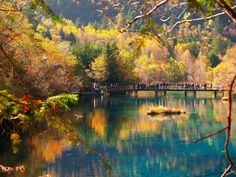 JIUZHAIGOU VALLEY, CHINA A UNESCO World Heritage Site and a World Biosphere Reserve, Jiuzhaigou Valley, China is incredibly picturesque in autumn when the mountains, valleys, lakes are shrouded in autumn colors.