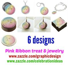 Pink Ribbon theme. #cancerawareness #breastcancermonth There are 6 designs in different products.