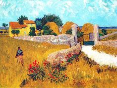 ARLES CHAMPS Ce « Mas de Provence » fut repris plusieurs fois par Van Gogh pendant la moisson de juin 88