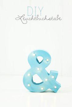 Es werde Licht: DIY Leuchtbuchstaben by http://titatoni.blogspot.de/