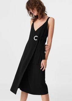Decorative buckle dress | MANGO
