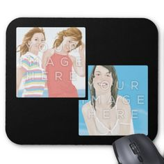 Instagram Two Photo Personalized Custom Mousepads #zazzle #colorbindery #giftideas #coolproducts #productoftheweek #mousepad #mousepaddesign #photomousepad #creativemousepad