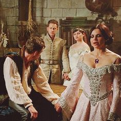 Regina not able to let go of Robin now that she's got him back