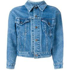 Levi's denim jacket ($800) ❤ liked on Polyvore featuring outerwear, jackets, coats & jackets, blue, jean jacket, blue jean jacket, denim jacket, blue jackets and levi jacket