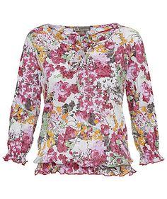 Blouse by comma #blouse #comma #flowers #engelhorn http://fashion.engelhorn.de/