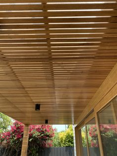 In this area we installed Silvertop Ash battens under a clear polycarbonate roof Bathroom Renovations Melbourne, Town And Country, Country Living, Carpentry Services, Timber Battens, Melbourne House, Outdoor Living, Outdoor Decor, Living Spaces