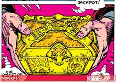 THE CASKET OF ANCIENT WINTERS was an Asgardian artifact, which contains the Fimbulwinter of Ymir; it created massive snowstorms if opened. The hand size Casket of Ancient Winter contained the fury of a thousand killing winters. It was used by Surtur In his attempt to defeat Thor. Surtur unleashed the devastating power of this artifact on the planet Earth. Needless to say this event caused mass-hysteria.