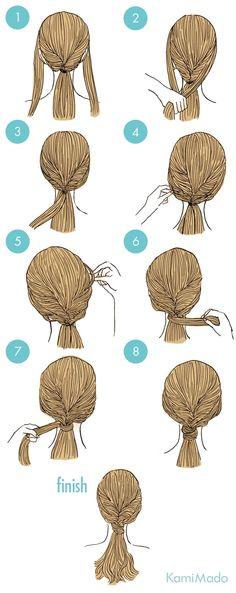 Cute Simple Hairstyles, Easy Hairstyles For Long Hair, Braided Hairstyles, Cool Hairstyles, Sexy Curls, Hair Arrange, Cut Her Hair, Hair Art, Hair Designs