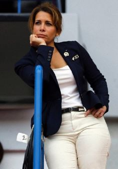 Jordan's Princess Haya bint Hussein attends the Individual freestyle Competition Dressage event at the World Equestrian Games 2014 at the d'Ornano stadium in Caen, France