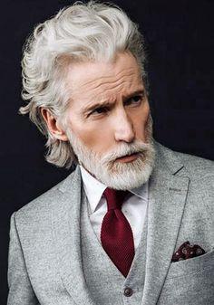 men with long hair character inspiration Older Mens Hairstyles, Bun Hairstyles For Long Hair, Long Gray Hair, Men With Grey Hair, Older Male Models, Medium Hair Styles, Long Hair Styles, Hair Medium, Handsome Older Men