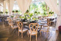 Mesas da recepção - Casamento rústico-chique Foto Luiza Ferraz