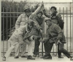 Tilden HS, East Flatbush, Brooklyn. 1980. Sheepskin coats & Clark's what y'all know bout that?!?