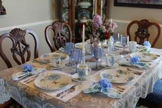 BLUE BUTTERFLY MEADOW TABLESCAPE - Belle Bleu Interiors