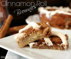 ~Cinnamon Roll Brownies! | Oh Bite It