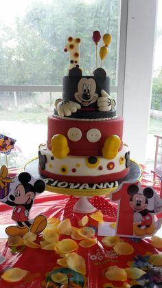 First Birthday 1° anno - Topolino
