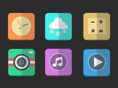 Flat Icons / Flat Design / Icons Design / Icons / Pictograms / Signs /