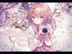 Sakura, photography and kawai by Armand Michel Kawaii Anime Girl, Anime Art Girl, Manga Girl, Manga Anime, Anime Girls, Pretty Anime Girl, Beautiful Anime Girl, Anime Flower, Cherry Blossom Art