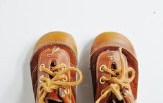 Vintage Toddler Shoes  Lace Ups by thewhitepepper on Etsy