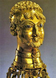 Gold bust of Holy Roman Emperor Frederick Barbarossa, circa 1157