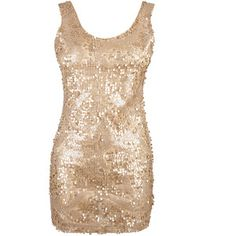 Gold All Over Sequin Tank Dress - Polyvore  $12 Courtney coustume