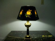C 1950 60 Table Lamp Brass and Marble | eBay